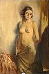 Femme nue au drapé