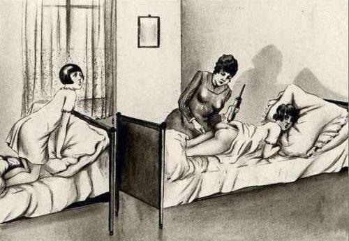Im Schlafsaal des Internats