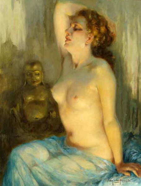 La femme et le Budda