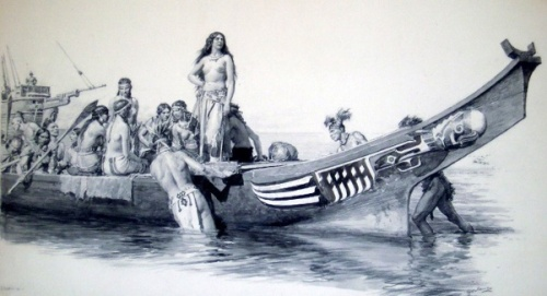 Slaves Embarking On Cortes' Ship