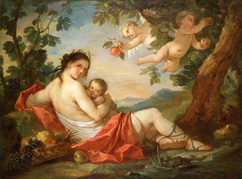 The Earth or Ceres Feeding Triptolemos