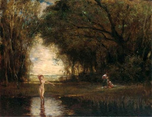 Bathers At A Woodland Pool