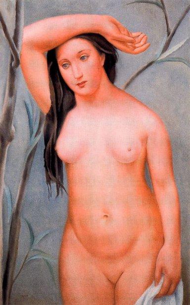 Desnudo con el brazo levantado