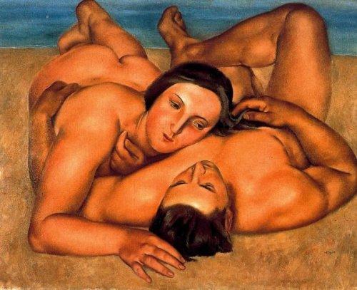 Desnudos en la playa
