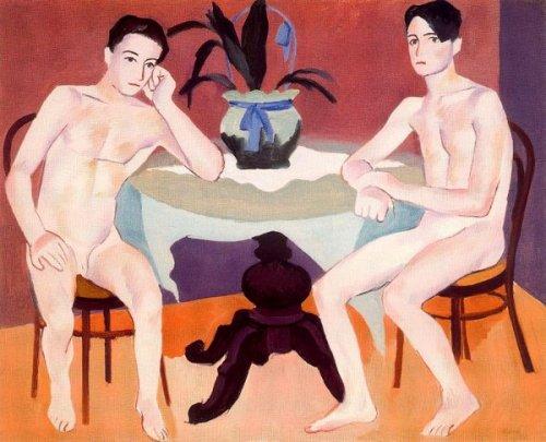 Dos hombres desnudos