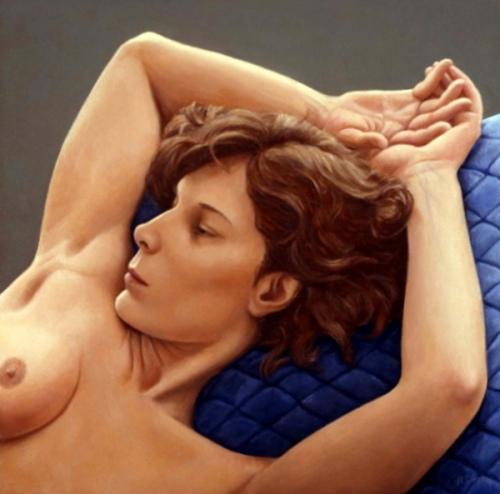 Joyce, Blue Quilt