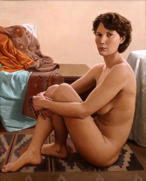 Nude, Indian Rug