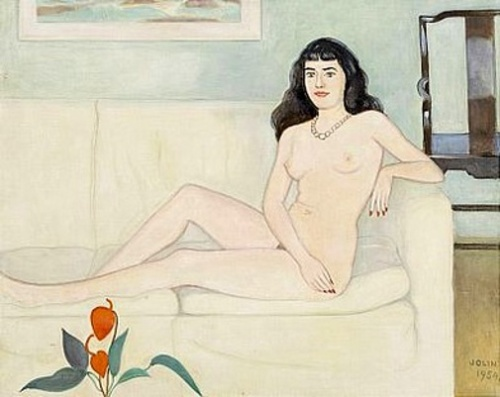Nude Model On The Couch