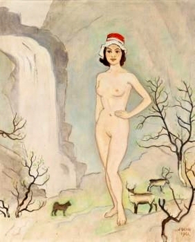 Nude Woman In A Landscape