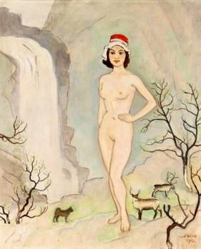 Nude Woman In A Landscape