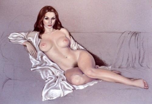 Olivia On A Sofa
