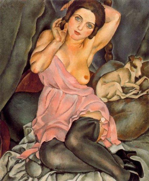 Renée y el perro