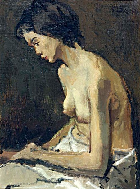 Study Of A Seated Nude
