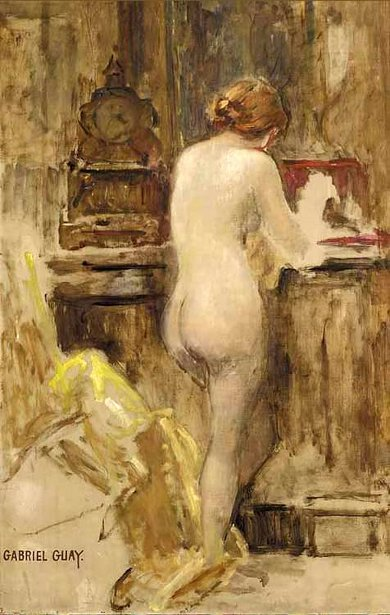 Study Of A Standing Nude
