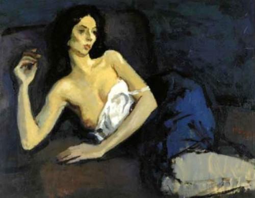 Woman In White Slip