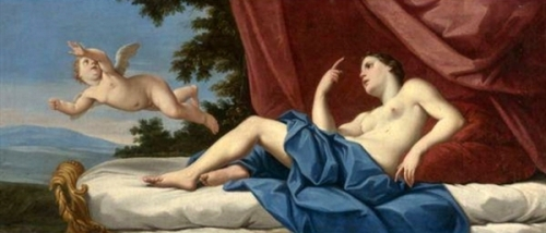 Cupid Fleeing From Wounded Venus