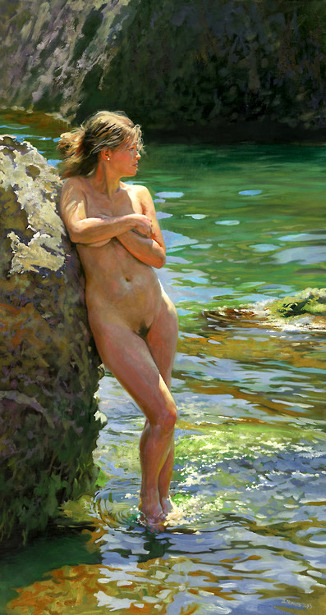 Nude Model At The Rock Shore Of The Black Sea