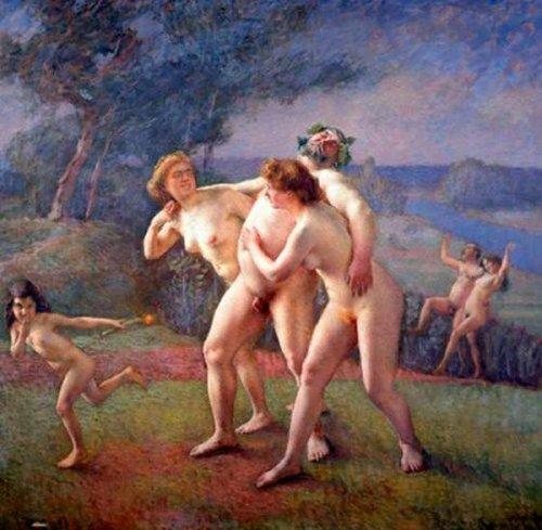 Silene entrainé par les nymphes