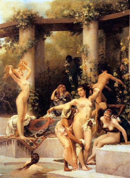 The Bathers - A Summer Bath At Pompeii
