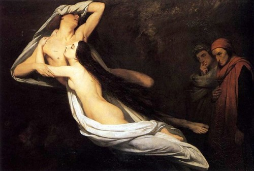 The Ghosts of Paolo and Francesca Appear To Dante And Virgil, 1835
