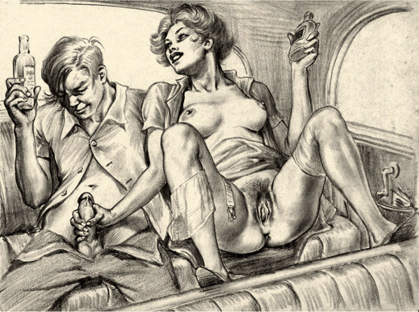 Ретро порно рисунки фото
