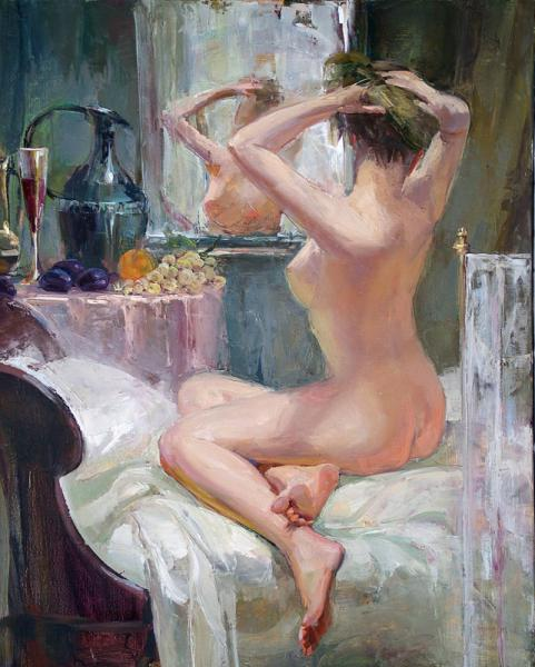Nude Before Mirror