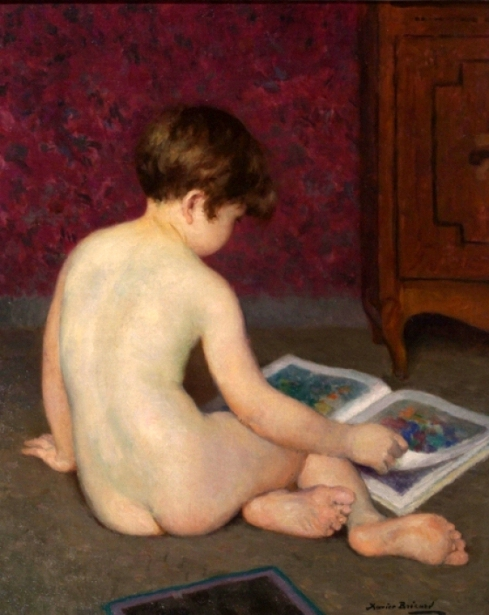 Nude Boy Reading
