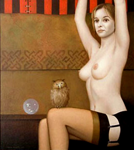 Stripper With Owl
