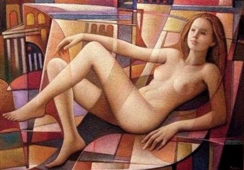 Composizione con nudo 6