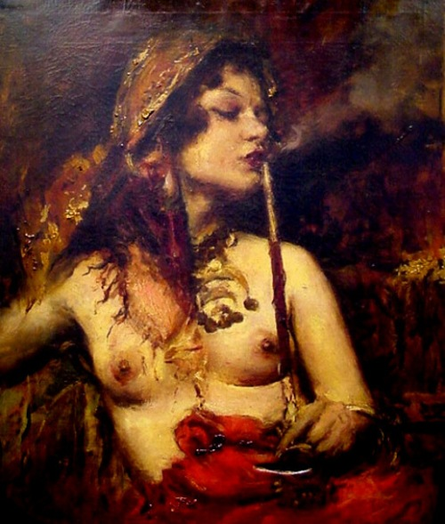 Gypsy Beauty With Pipe