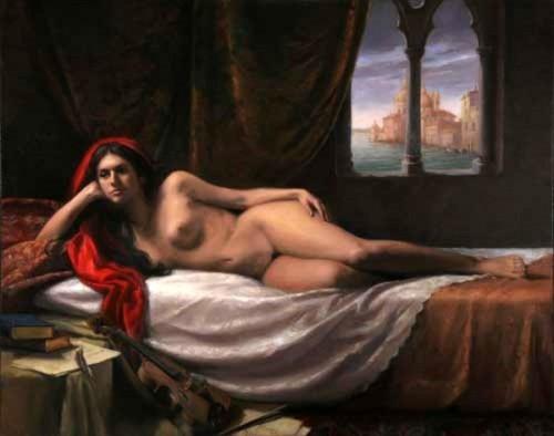 In attesa della musa (Reclining Nude)