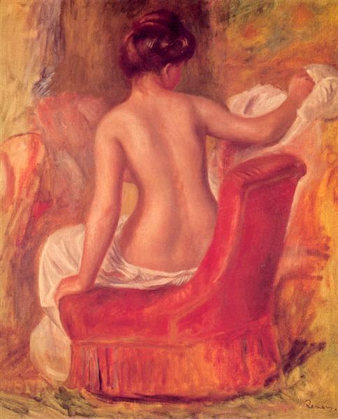 Nuda in poltrona