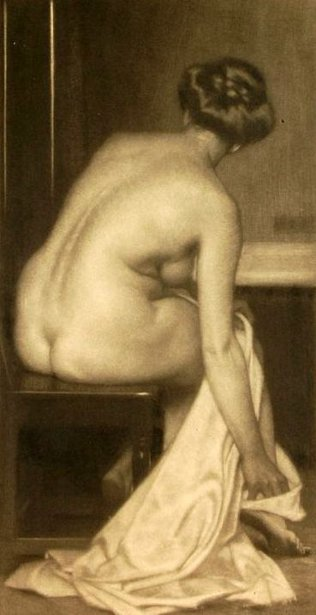 Nude Female With Towel