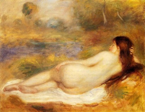 Nude Reclining On The Grass