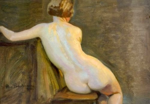 Seated Female Nude Back