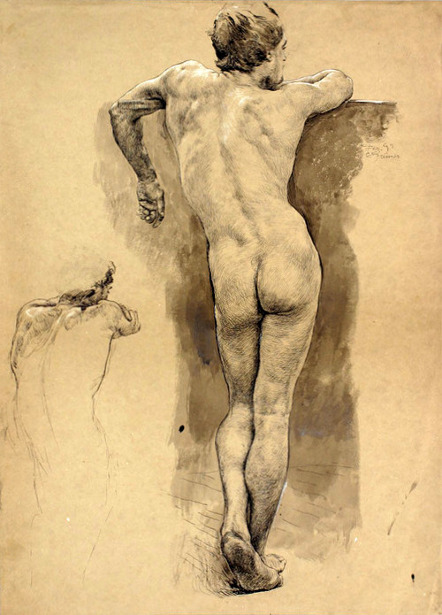 Standing Male Nude 2
