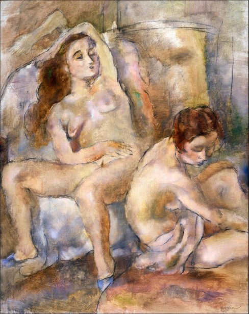 Two Young Girls In Repose