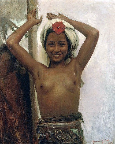 Young Balinese Girl With Hibiscus