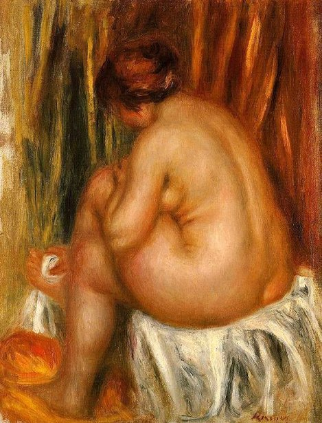 After Bathing - Nude Study