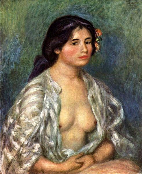 Gabrielle à la chemise ouverte