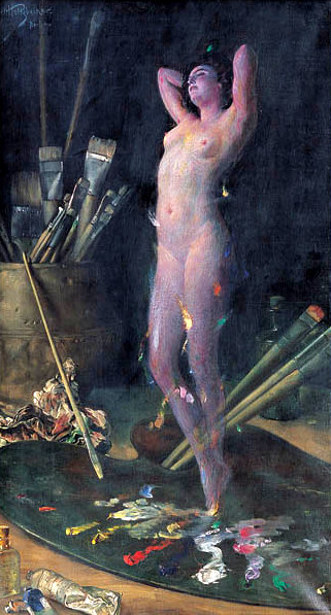 In The Studio - The Painter's Vision