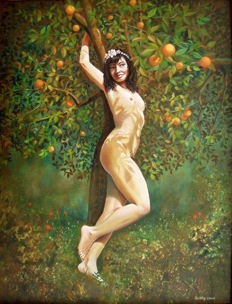 Lala entre las naranjas