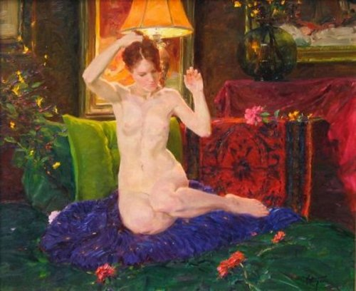 Nude And Lamp