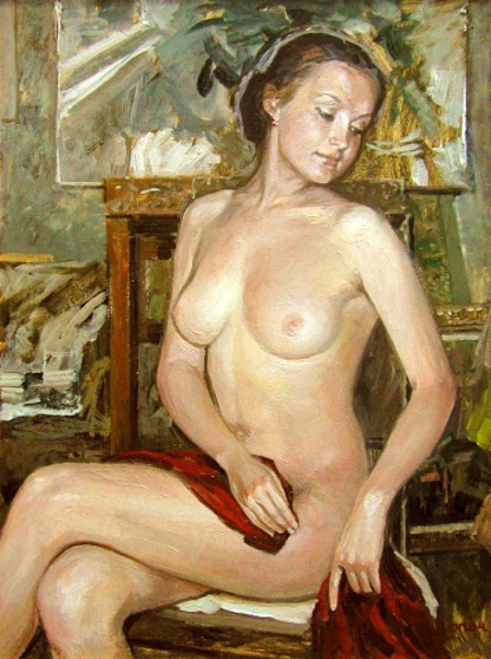 Nude At The Easel