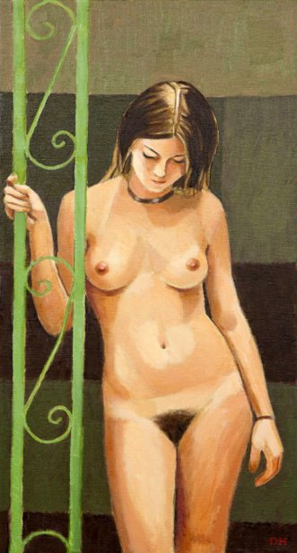 Nude By The Green Trellis