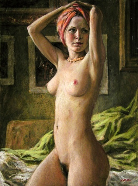Nude In A Turban