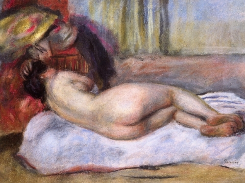 Sleeping Nude With Hat - Repose