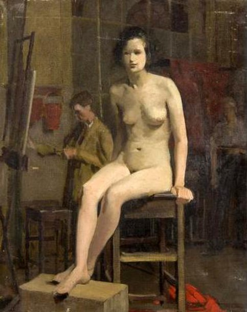 Female Nude In A Studio