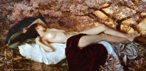 Sleeping In The Lush Garden - Cherry Blossom