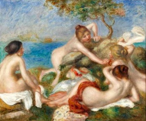 Bathers With Crab